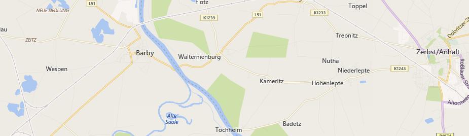 Anfahrt Brennholzhandel / Kaminholz Walternienburg