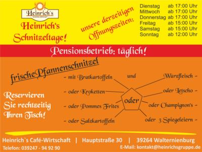 Schnitzeltage bei Heinrich's